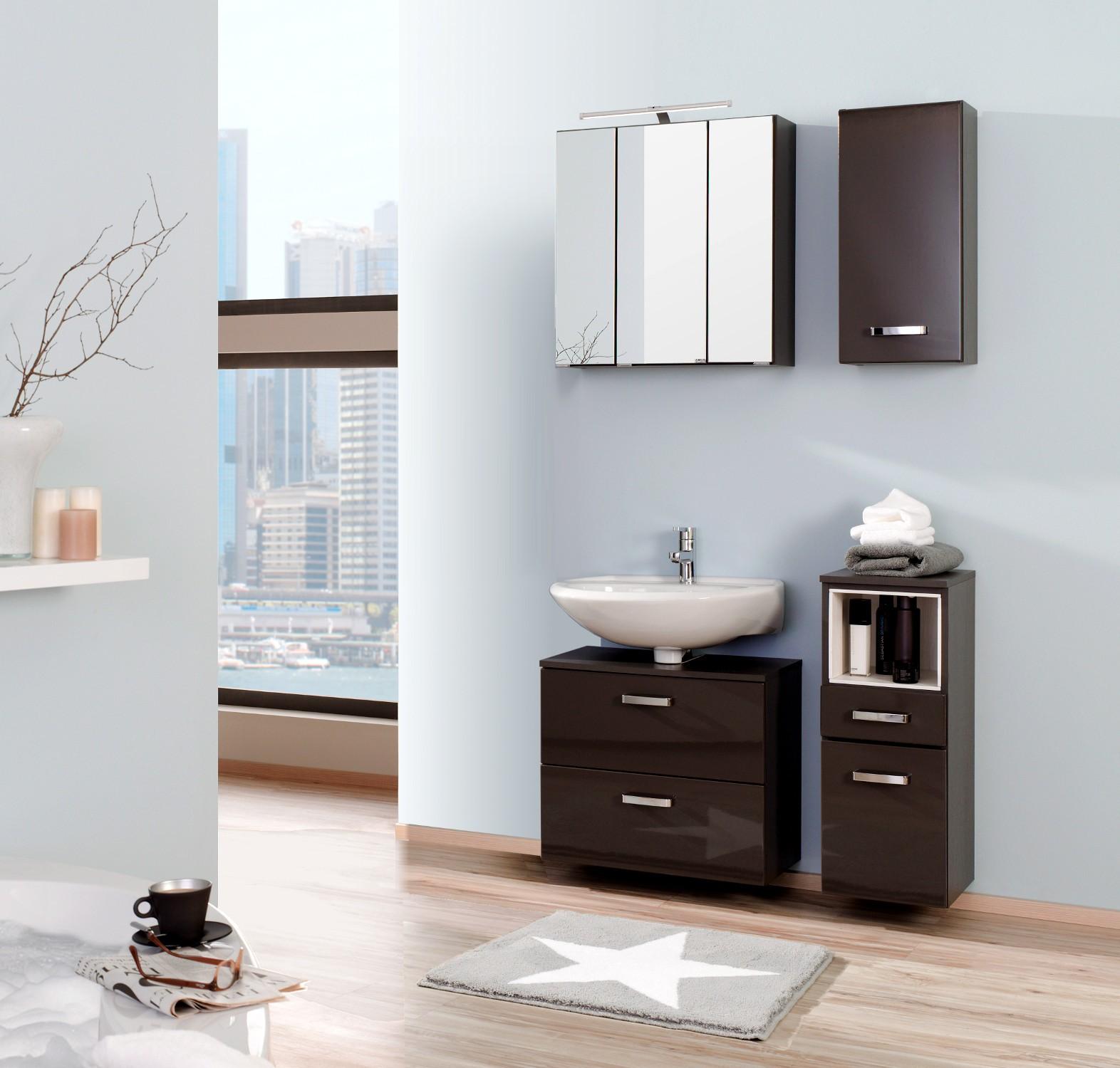 badm bel hochglanz grau hx61 kyushucon. Black Bedroom Furniture Sets. Home Design Ideas