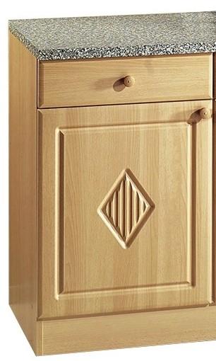 Neu Küchen-Unterschrank RAUTE - 2-türig - 100 cm breit - Buche Küche  AO86