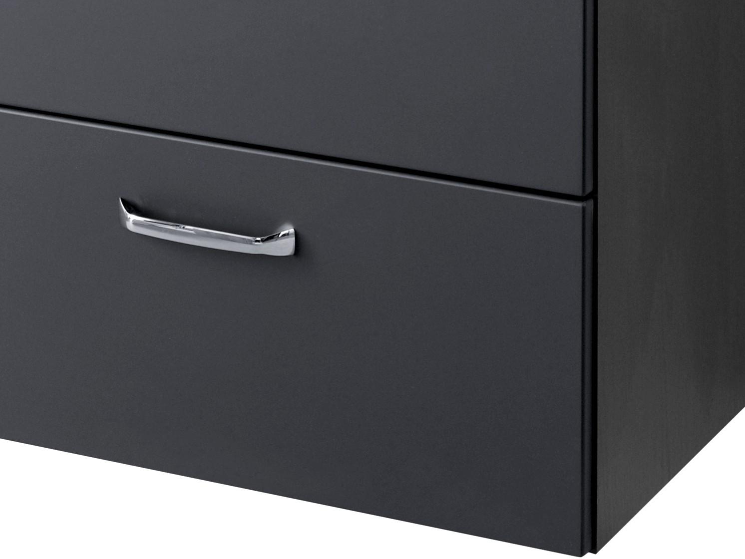 bad waschbeckenunterschrank fontana 1 klappe 1 auszug 60 cm breit anthrazit bad fontana. Black Bedroom Furniture Sets. Home Design Ideas