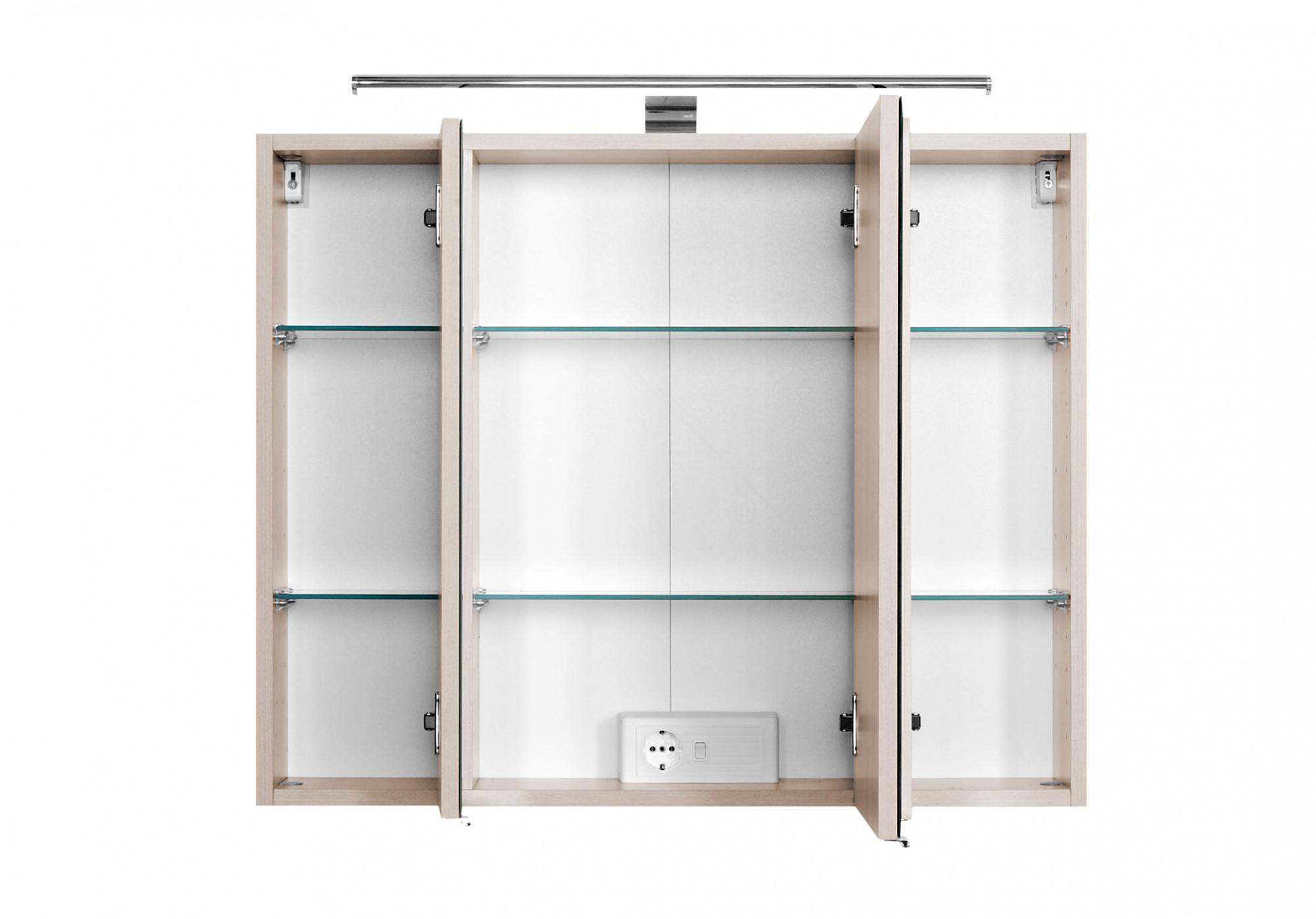 badezimmer spiegelschrank 80 cm breit gx73 hitoiro. Black Bedroom Furniture Sets. Home Design Ideas