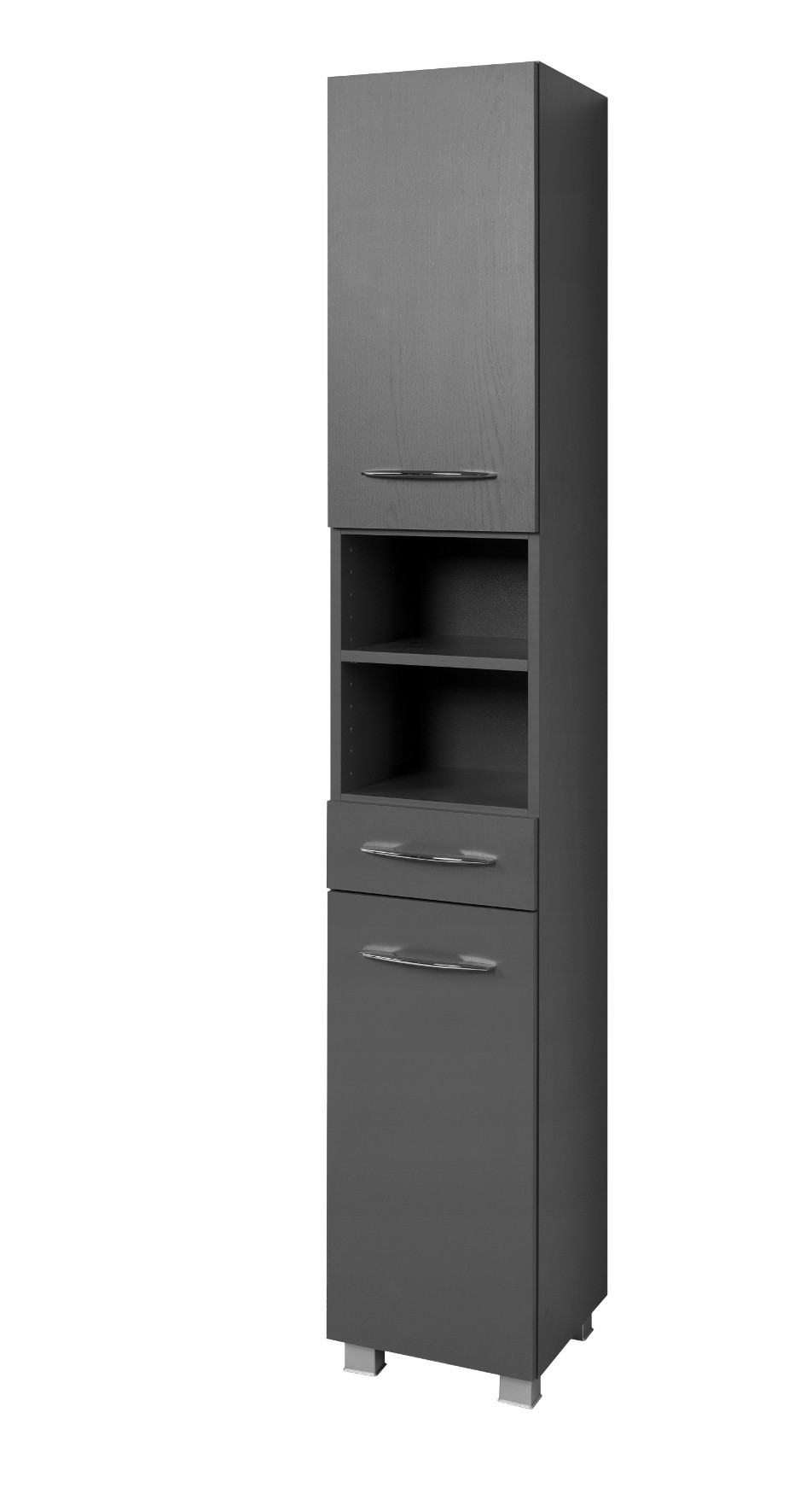 bad hochschrank portofino 2 t rig 1 schubkasten 30 cm breit graphitgrau bad portofino. Black Bedroom Furniture Sets. Home Design Ideas