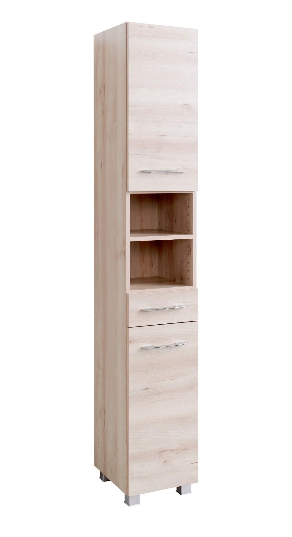 bad hochschrank portofino 2 t rig 1 schubkasten 30 cm breit buche iconic bad portofino. Black Bedroom Furniture Sets. Home Design Ideas