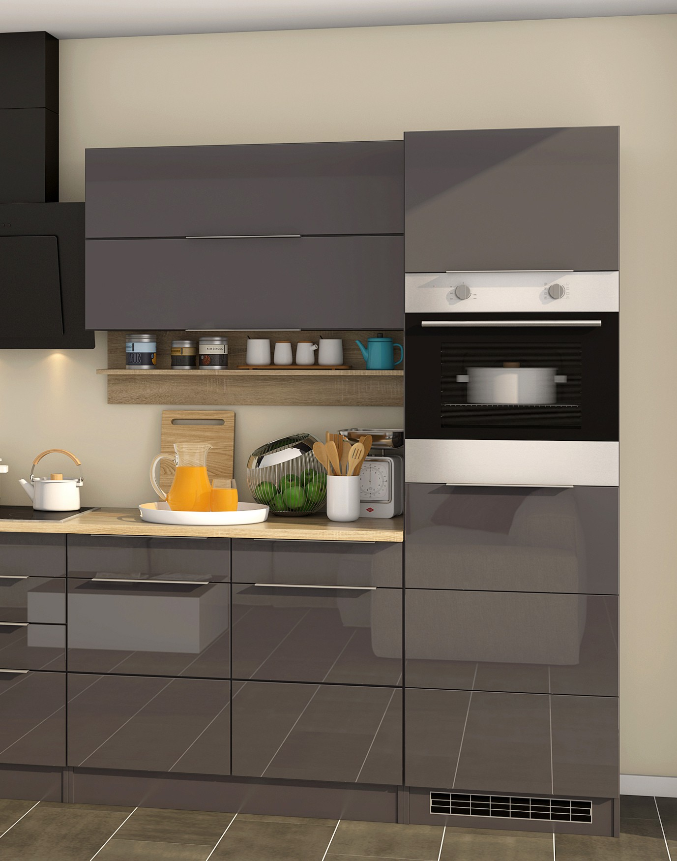 k chenzeile hamburg k che mit e ger ten breite 320 cm. Black Bedroom Furniture Sets. Home Design Ideas