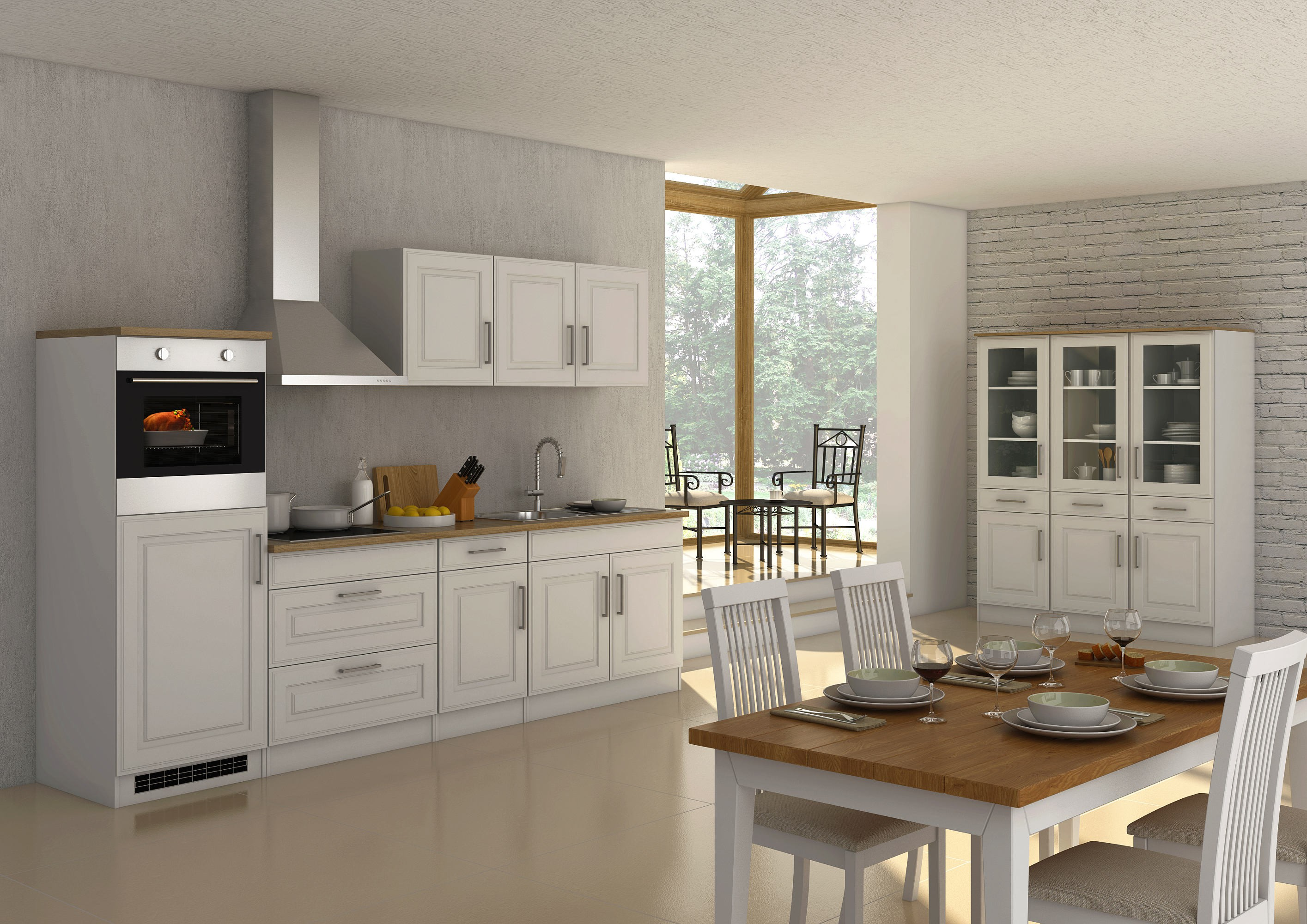 Küchen Apothekerschrank KÖLN 1 Front Auszug Weiß Küche