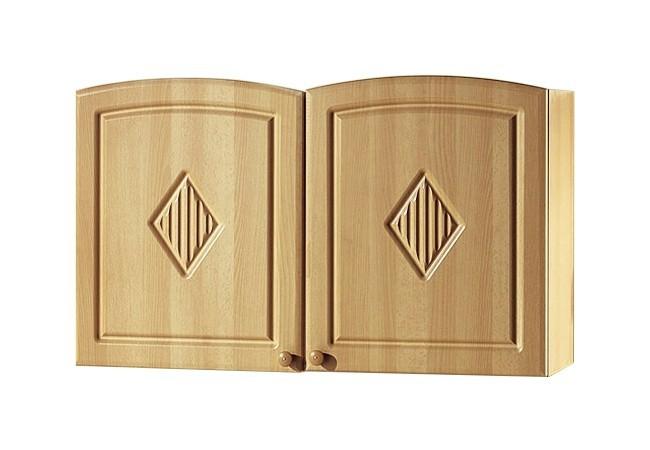 Küchenhängeschrank  Küchen-Hängeschrank RAUTE - Glas - 2-türig - 100 cm breit - Buche ...