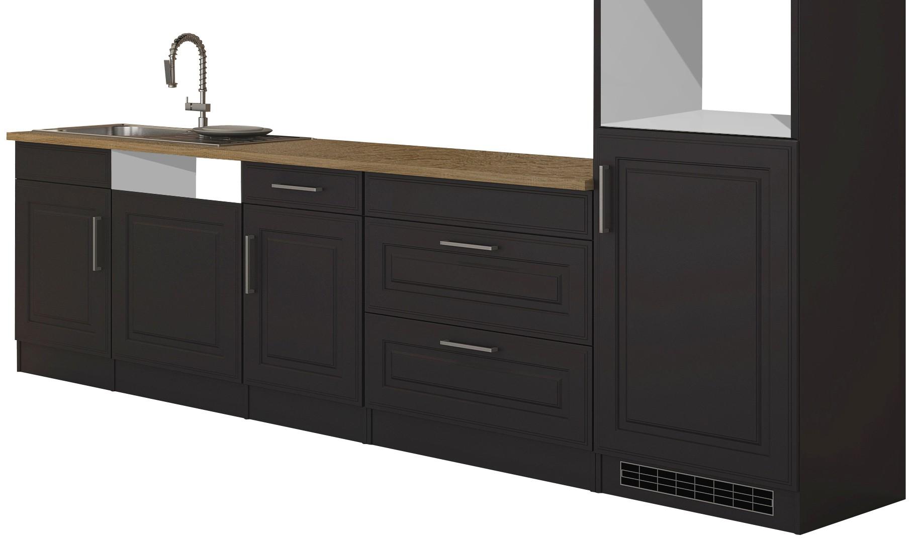 k chenzeile k ln k chen leerblock breite 300 cm grau. Black Bedroom Furniture Sets. Home Design Ideas