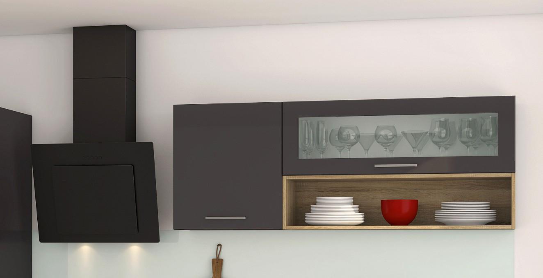 k chenzeile m nchen k chenblock mit elektro ger ten 290 cm grau ebay. Black Bedroom Furniture Sets. Home Design Ideas