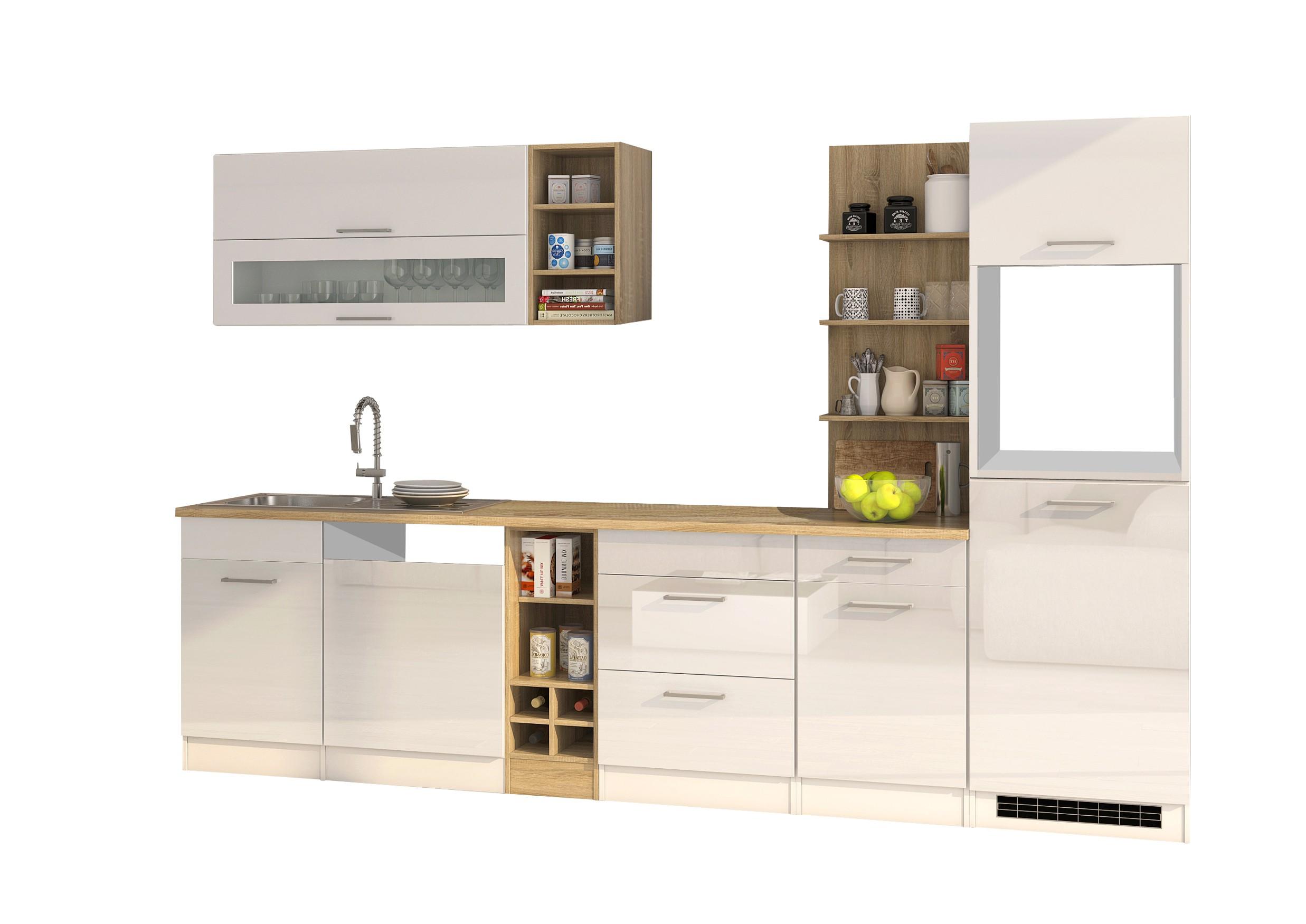 k chenzeile m nchen vario 3 k chen leerblock breite 310 cm hochglanz wei k che k chenzeilen. Black Bedroom Furniture Sets. Home Design Ideas