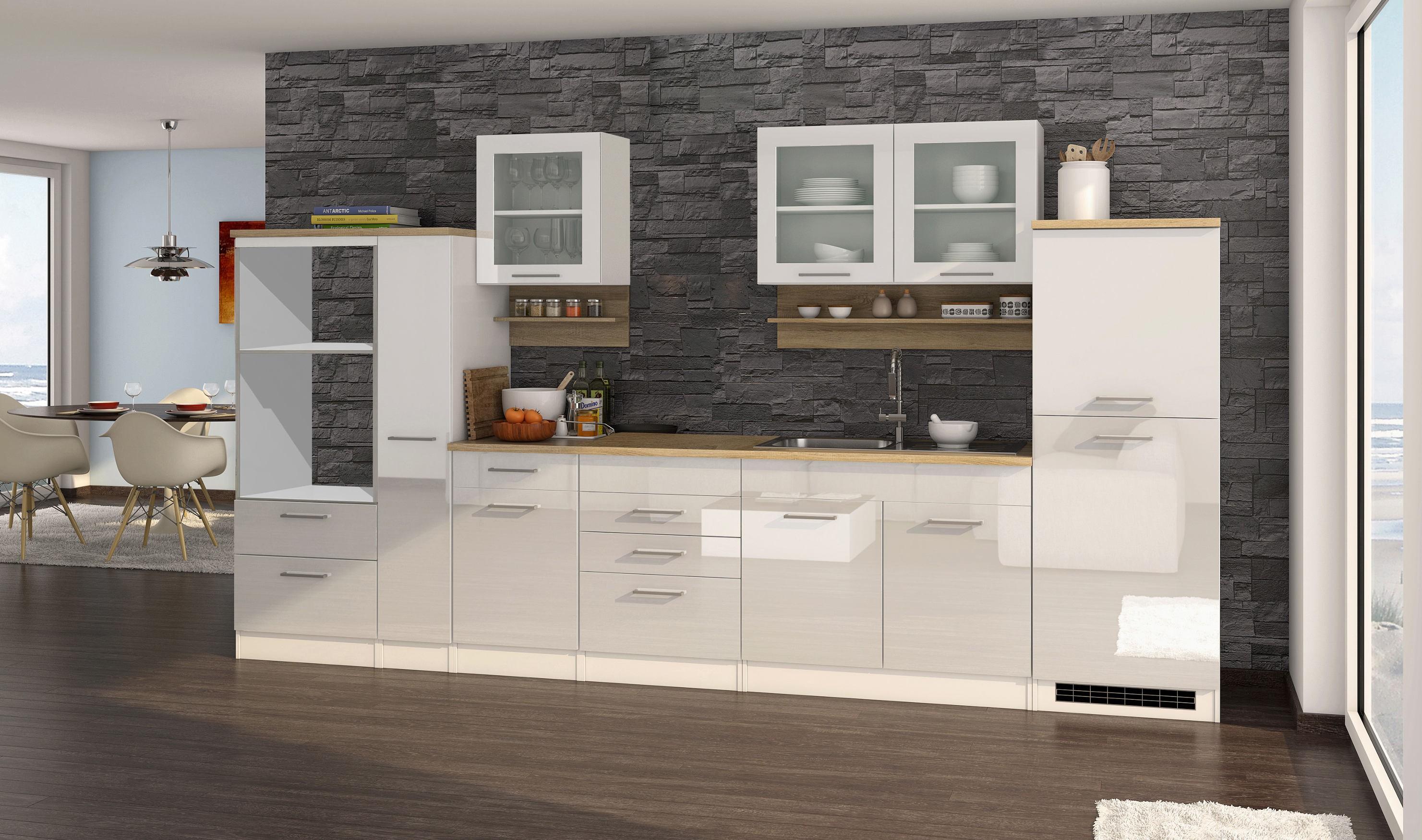 k chenzeile m nchen vario 4 k chen leerblock breite 360 cm hochglanz wei k che k chenzeilen. Black Bedroom Furniture Sets. Home Design Ideas