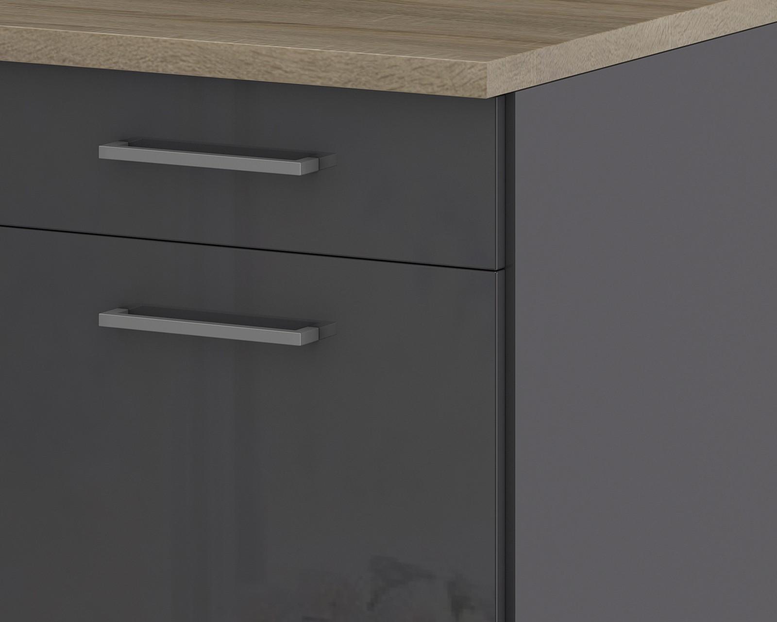 k chen unterschrank m nchen 1 t rig 50 cm breit. Black Bedroom Furniture Sets. Home Design Ideas