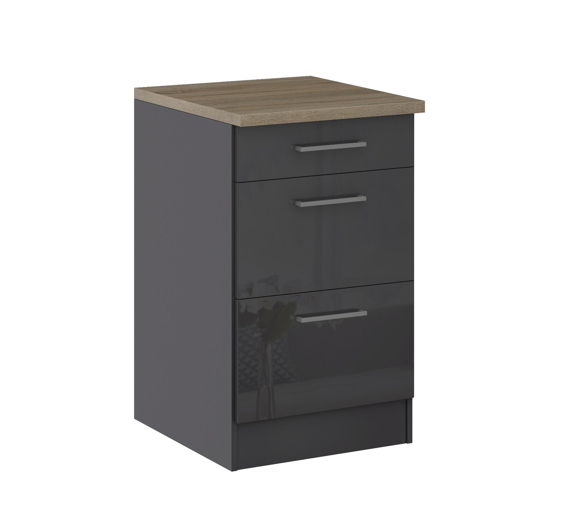 k chen unterschrank m nchen 2 ausz ge 1 schublade. Black Bedroom Furniture Sets. Home Design Ideas