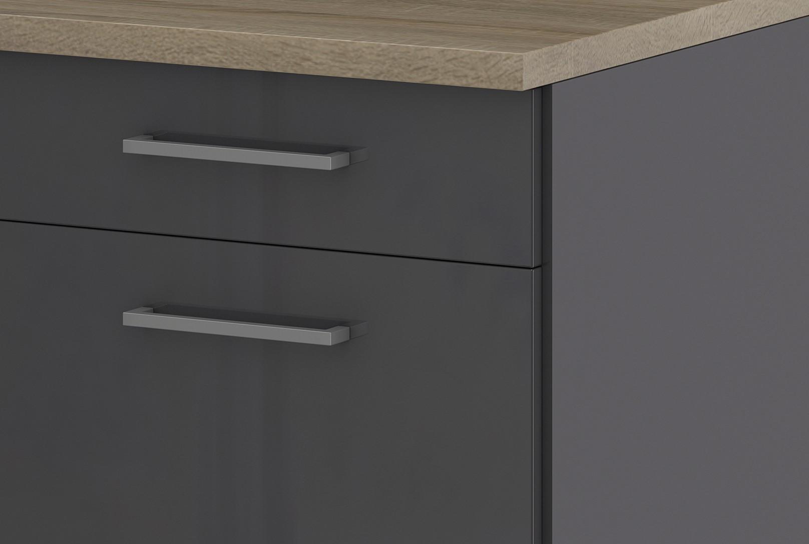 k chen unterschrank m nchen 2 ausz ge 1 schublade hochglanz grau graphit k che m nchen. Black Bedroom Furniture Sets. Home Design Ideas