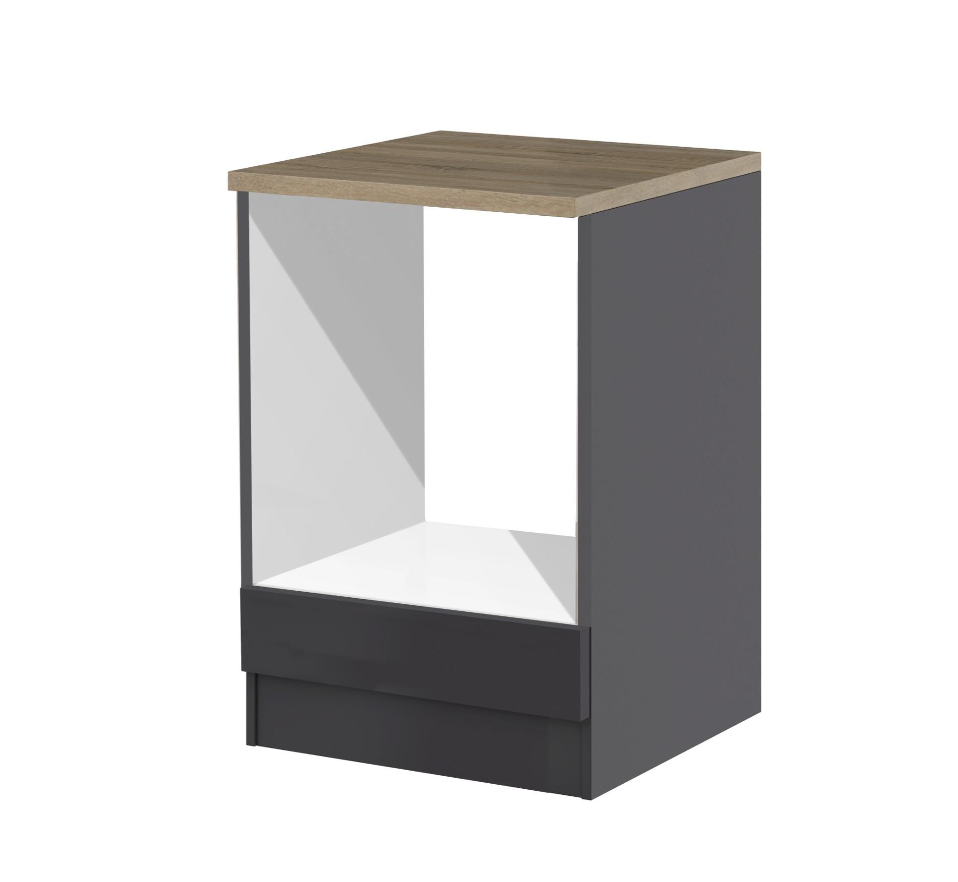 herdumbauschrank m nchen herdumbau k chenschrank 60 cm grau graphit. Black Bedroom Furniture Sets. Home Design Ideas