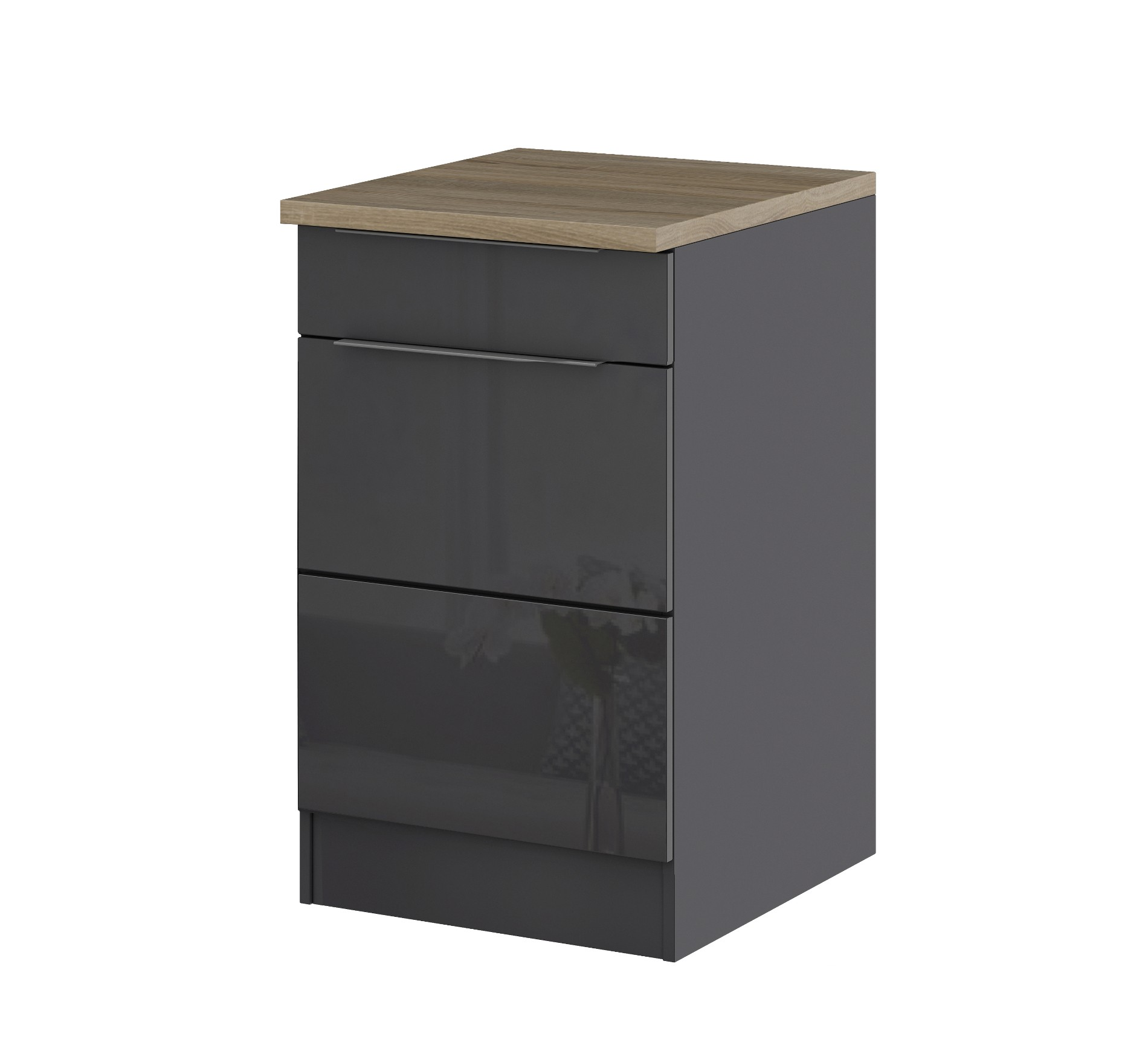 k chen unterschrank hamburg 1 t rig 50 cm breit hochglanz grau graphit k che hamburg. Black Bedroom Furniture Sets. Home Design Ideas