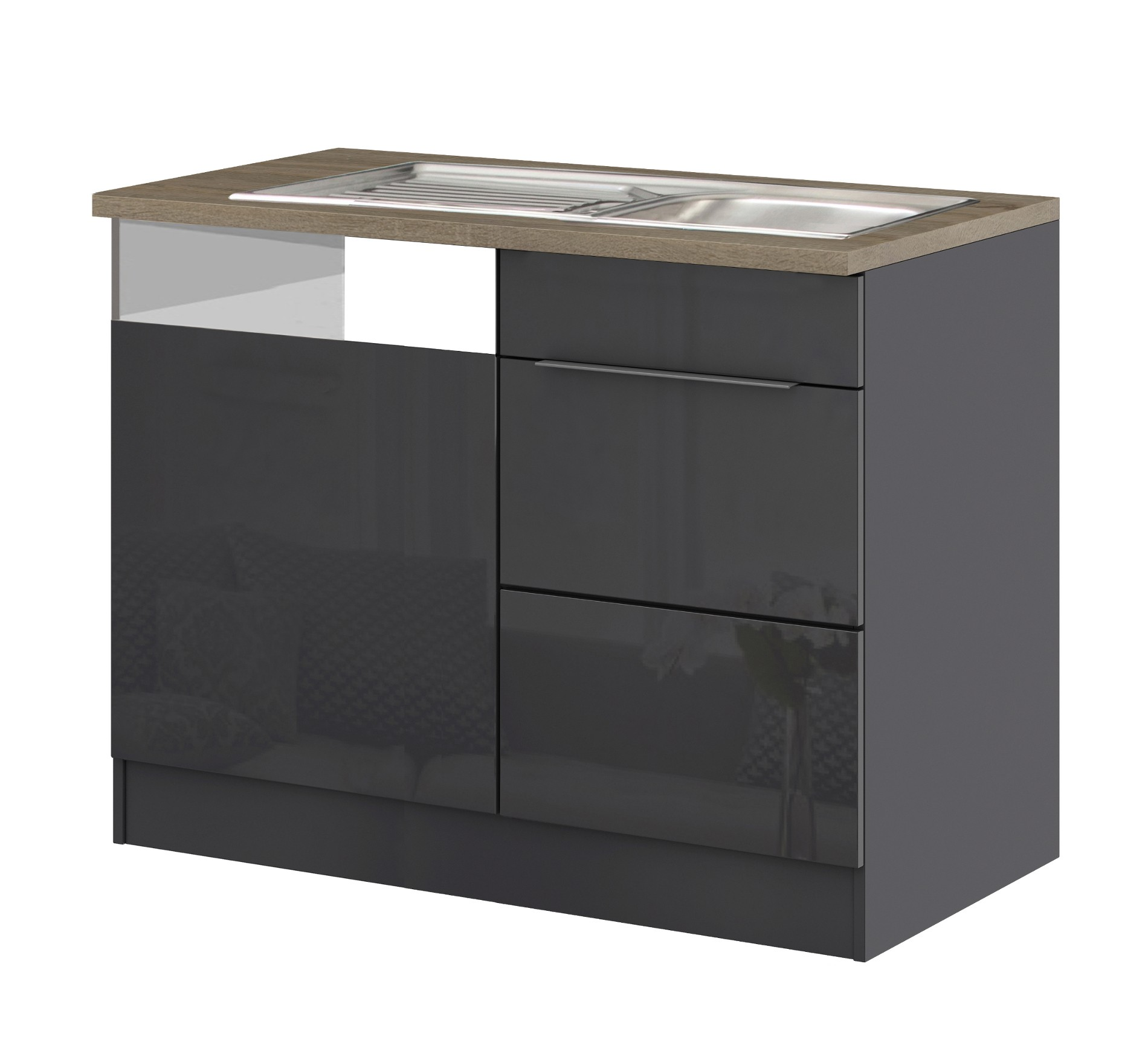 k chen sp lcenter hamburg 1 t rig 110 cm breit. Black Bedroom Furniture Sets. Home Design Ideas