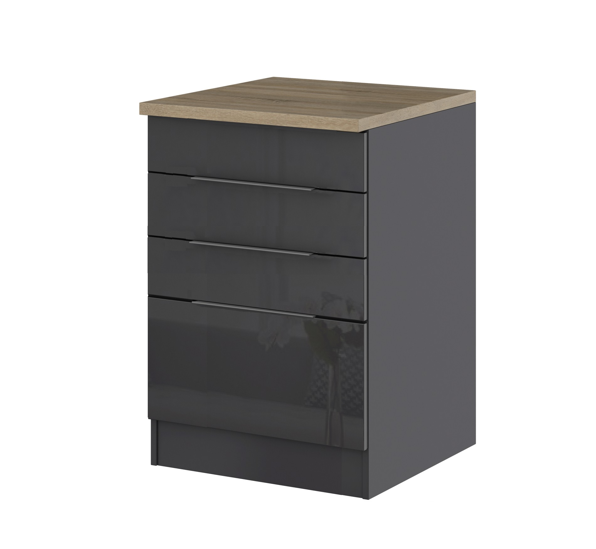 k chen unterschrank hamburg f r kochfeld 60 cm breit hochglanz grau k che hamburg. Black Bedroom Furniture Sets. Home Design Ideas