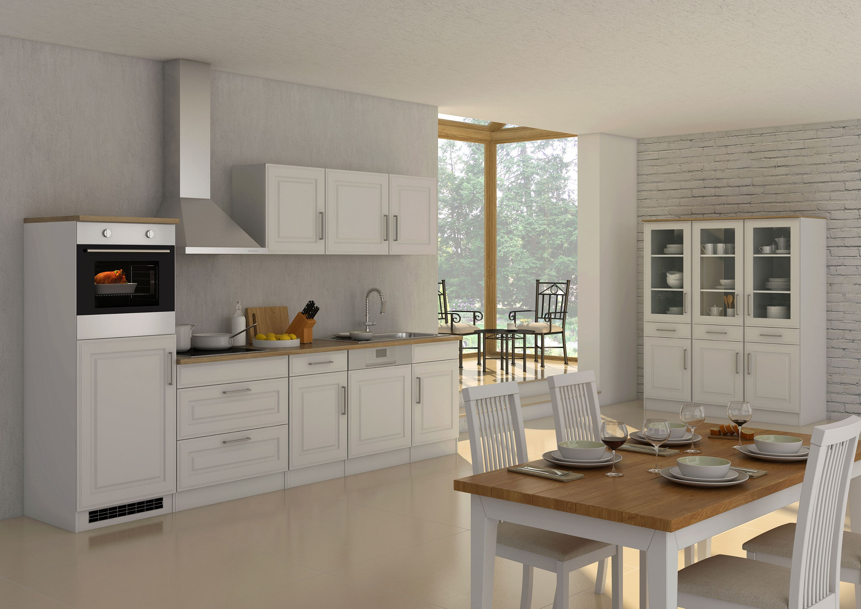 k chen h ngeschrank k ln 1 t rig breite 50 cm wei. Black Bedroom Furniture Sets. Home Design Ideas