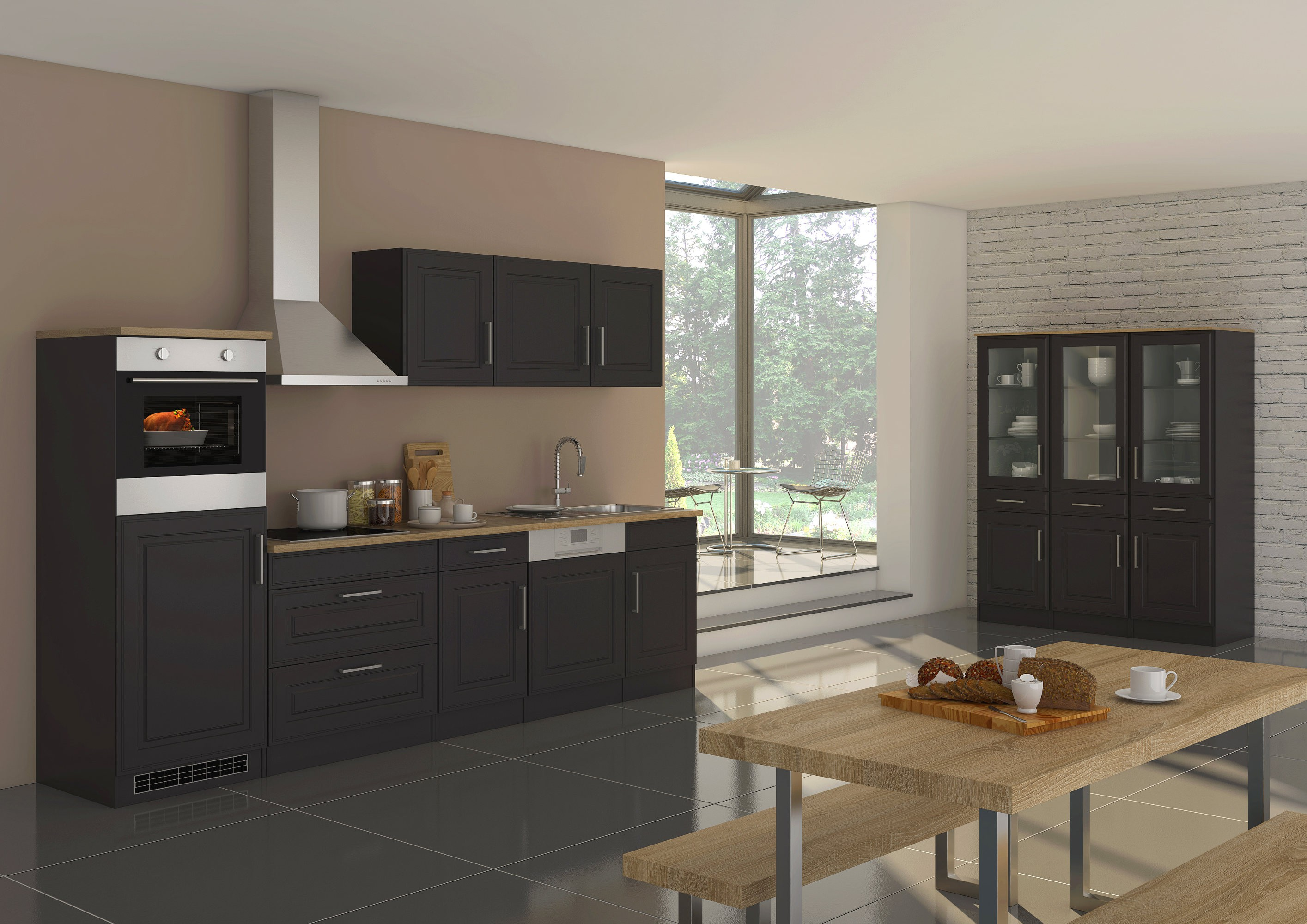 KüchenSpülcenter KÖLN  1türig  110 cm breit  Grau