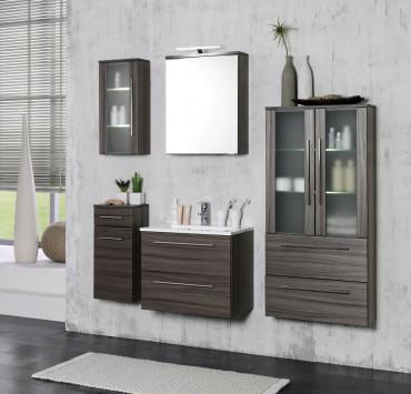 Badmöbel Set MAILAND - mit Waschtisch - 7-teilig - 150 cm breit - Eiche-Dunkel
