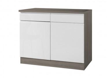 Interessant Küchen-Unterschrank CARDIFF - 1-türig - 50 cm breit - Hochglanz  LA08