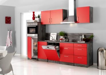 küchenzeile sevilla - küchen-leerblock - breite 280 cm - rot ...