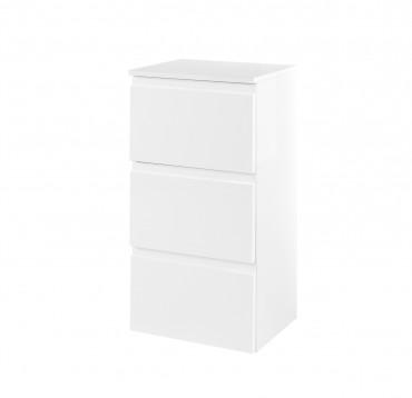 bad unterschrank cardiff 3 schubladen 40 cm breit hochglanz wei bad cardiff. Black Bedroom Furniture Sets. Home Design Ideas