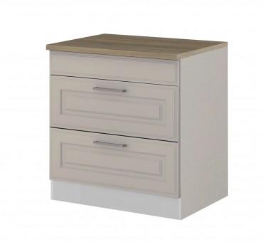 k chen unterschrank k ln 2 ausz ge 80 cm breit wei k che k ln. Black Bedroom Furniture Sets. Home Design Ideas