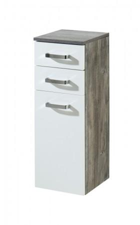 bad spiegelschrank 3 t rig mit beleuchtung 60 cm breit wei bad capri. Black Bedroom Furniture Sets. Home Design Ideas