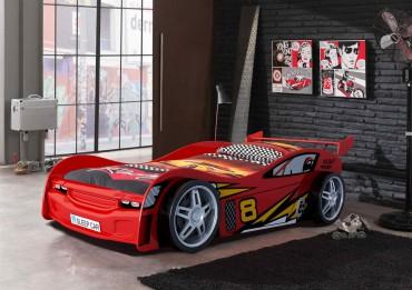 Autobett  NIGHT RACER - Liegefläche 90 x 200 cm - Rot