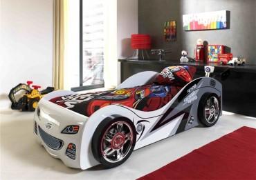 Autobett BRAP BRAP - Liegefläche 90 x 200 cm - Weiß