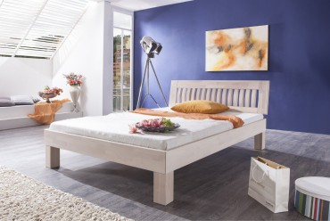 Futonbett KLEOPATRA - Liegefläche 180 x 200 cm - Massivholz - White Wash