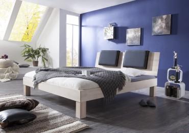 Futonbett MAX - Liegefläche 140 x 200 cm - Massivholz - White Wash