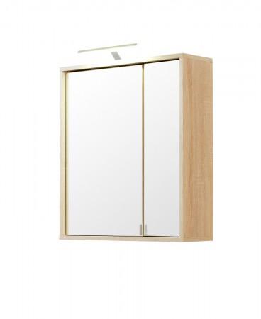 bad spiegelschrank 3 t rig 2 regale mit beleuchtung. Black Bedroom Furniture Sets. Home Design Ideas
