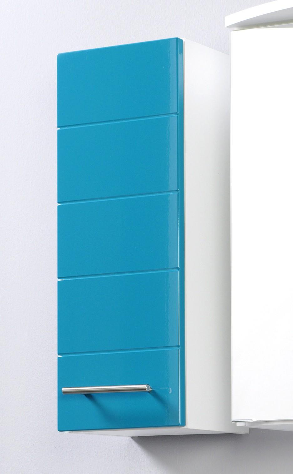 bad h ngeschrank rimini 1 t rig 25 cm breit hochglanz t rkis bad rimini. Black Bedroom Furniture Sets. Home Design Ideas