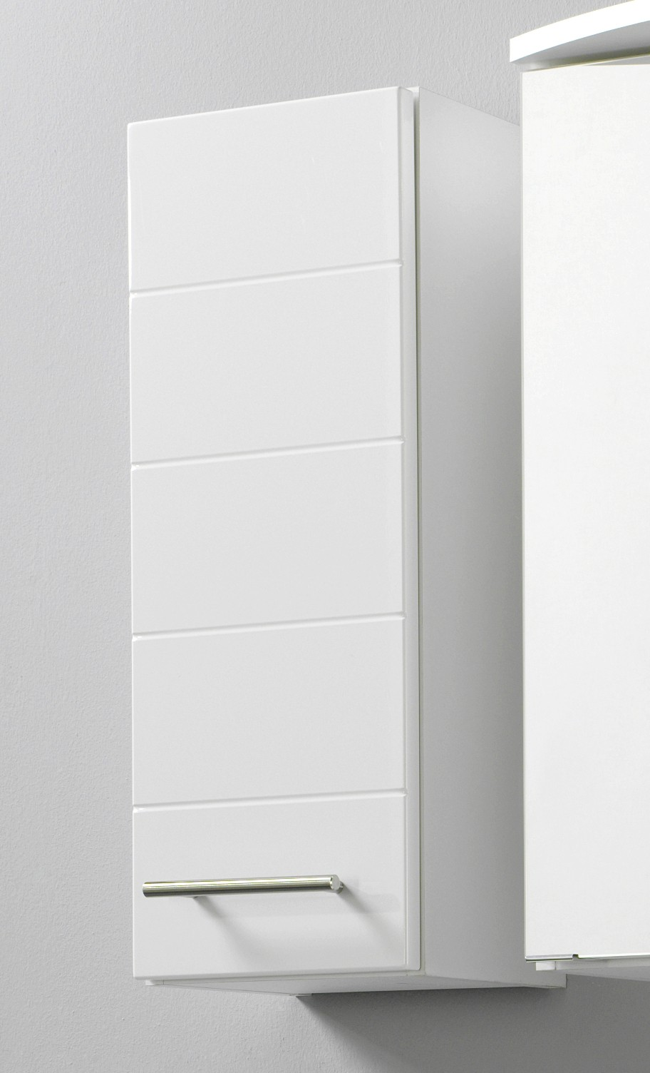 bad h ngeschrank rimini 1 t rig 25 cm breit hochglanz wei bad rimini. Black Bedroom Furniture Sets. Home Design Ideas