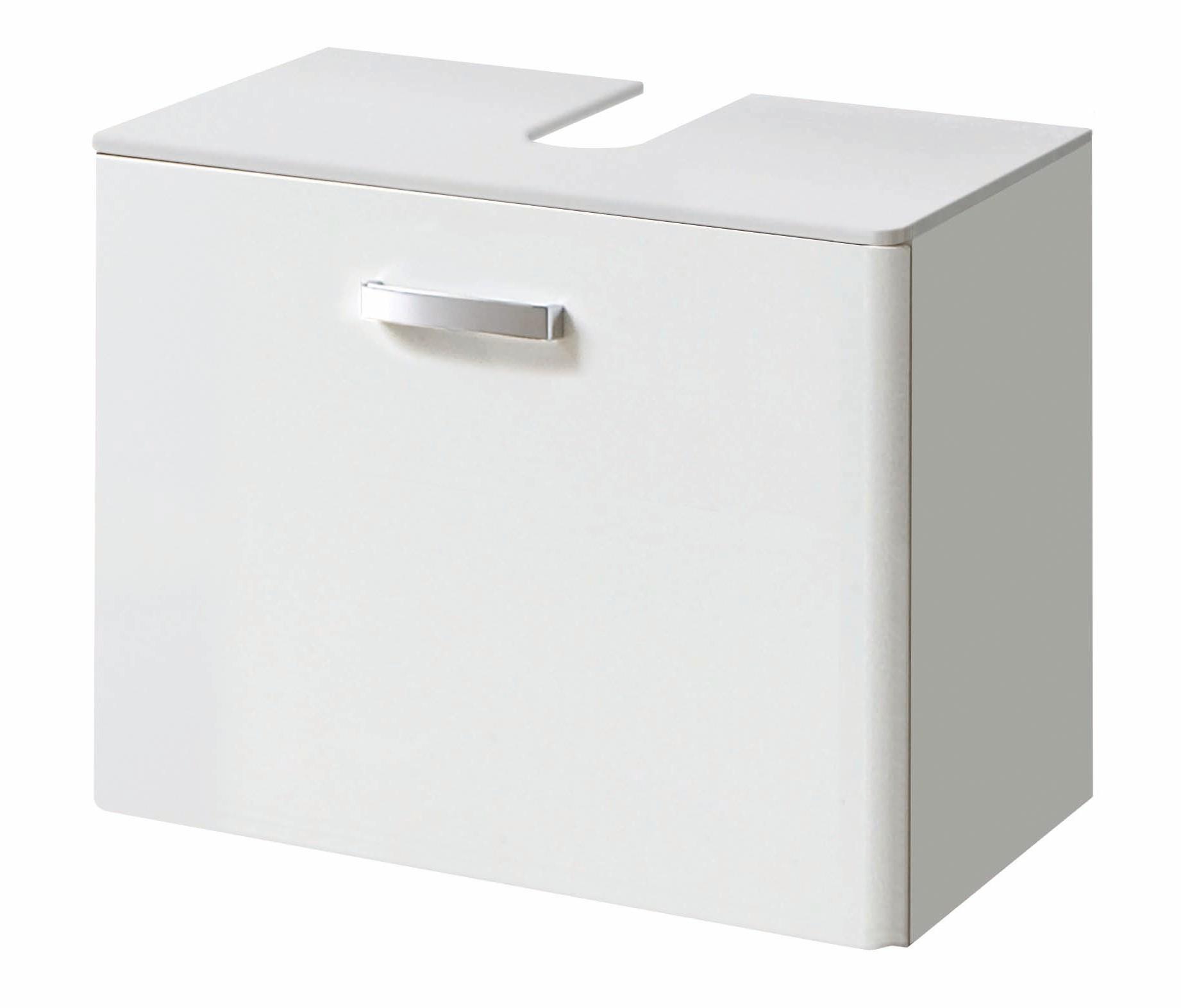 bad waschbeckenunterschrank phoenix 1 auszug 60 cm breit hochglanz wei bad phoenix. Black Bedroom Furniture Sets. Home Design Ideas