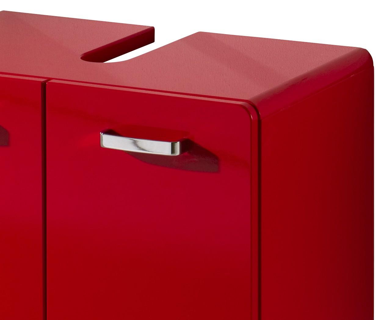 neu waschbeckenschrank round waschbeckenunterschrank mdf hochglanz rot ebay. Black Bedroom Furniture Sets. Home Design Ideas