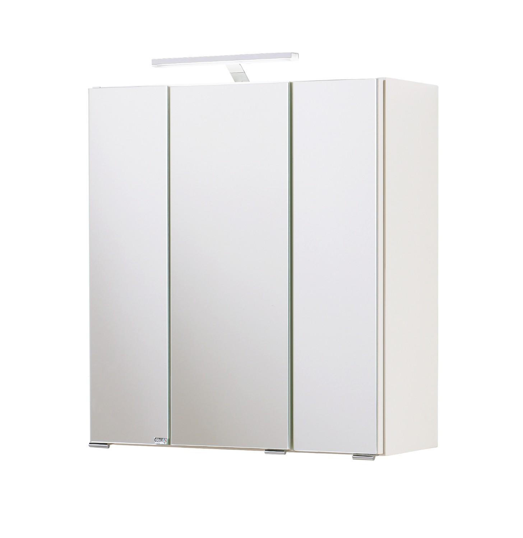 bad spiegelschrank 3 t rig mit beleuchtung 60 cm. Black Bedroom Furniture Sets. Home Design Ideas
