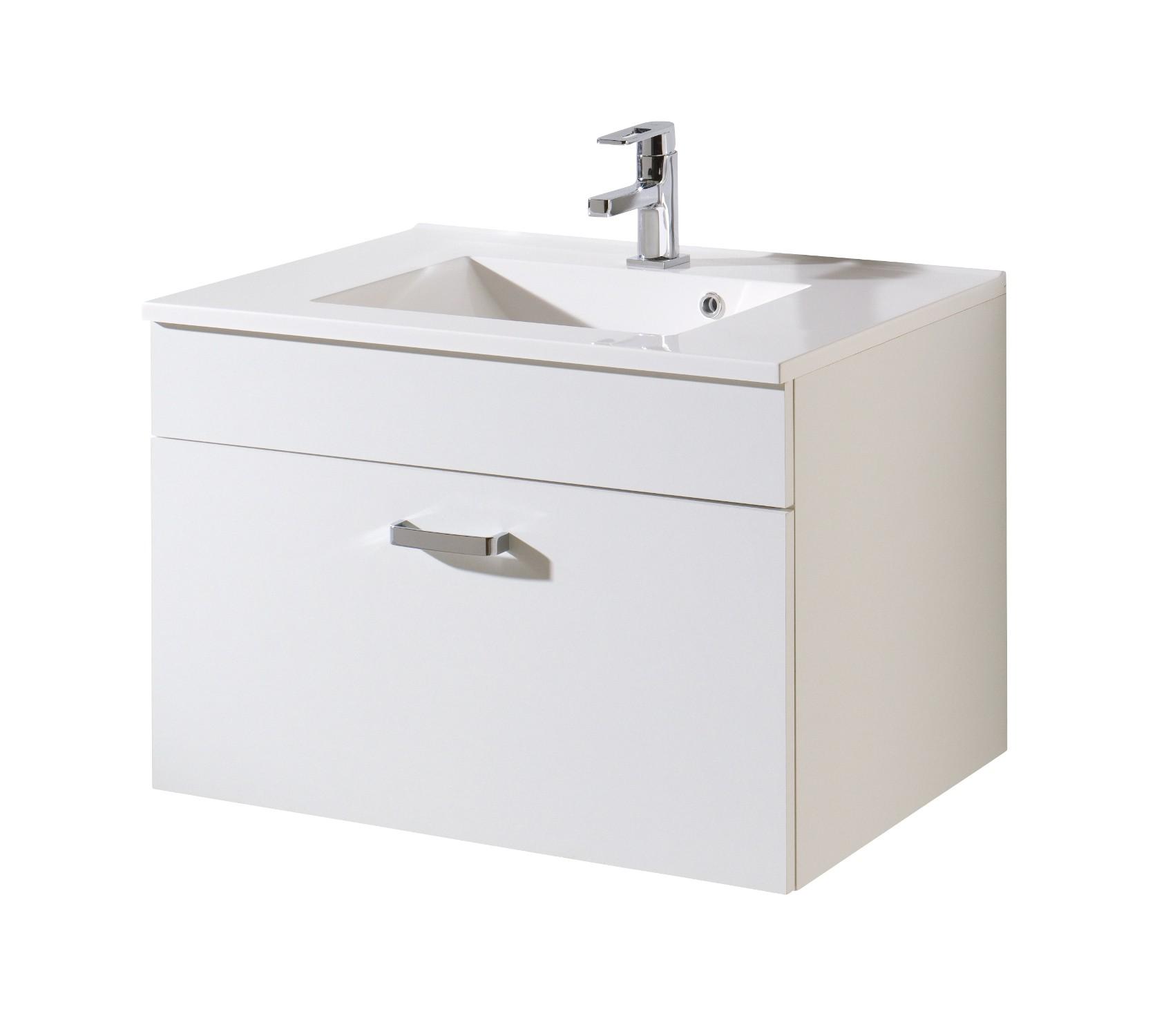bad waschtisch capri 1 auszug 80 cm breit wei bad capri. Black Bedroom Furniture Sets. Home Design Ideas