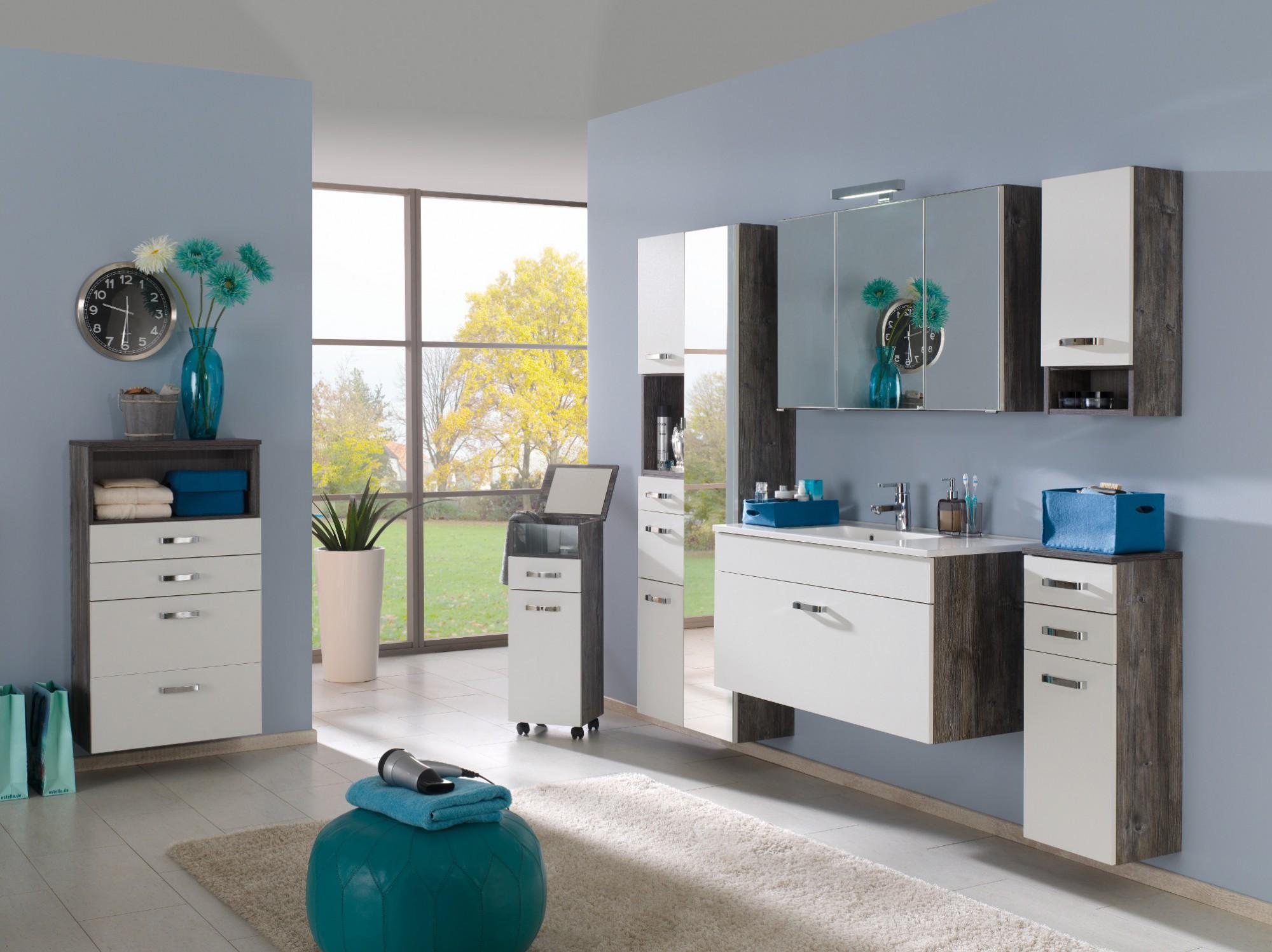 Waschbeckenunterschrank stehend grau  Waschbeckenunterschrank Schublade Grau: Waschtisch stehend 80 ...