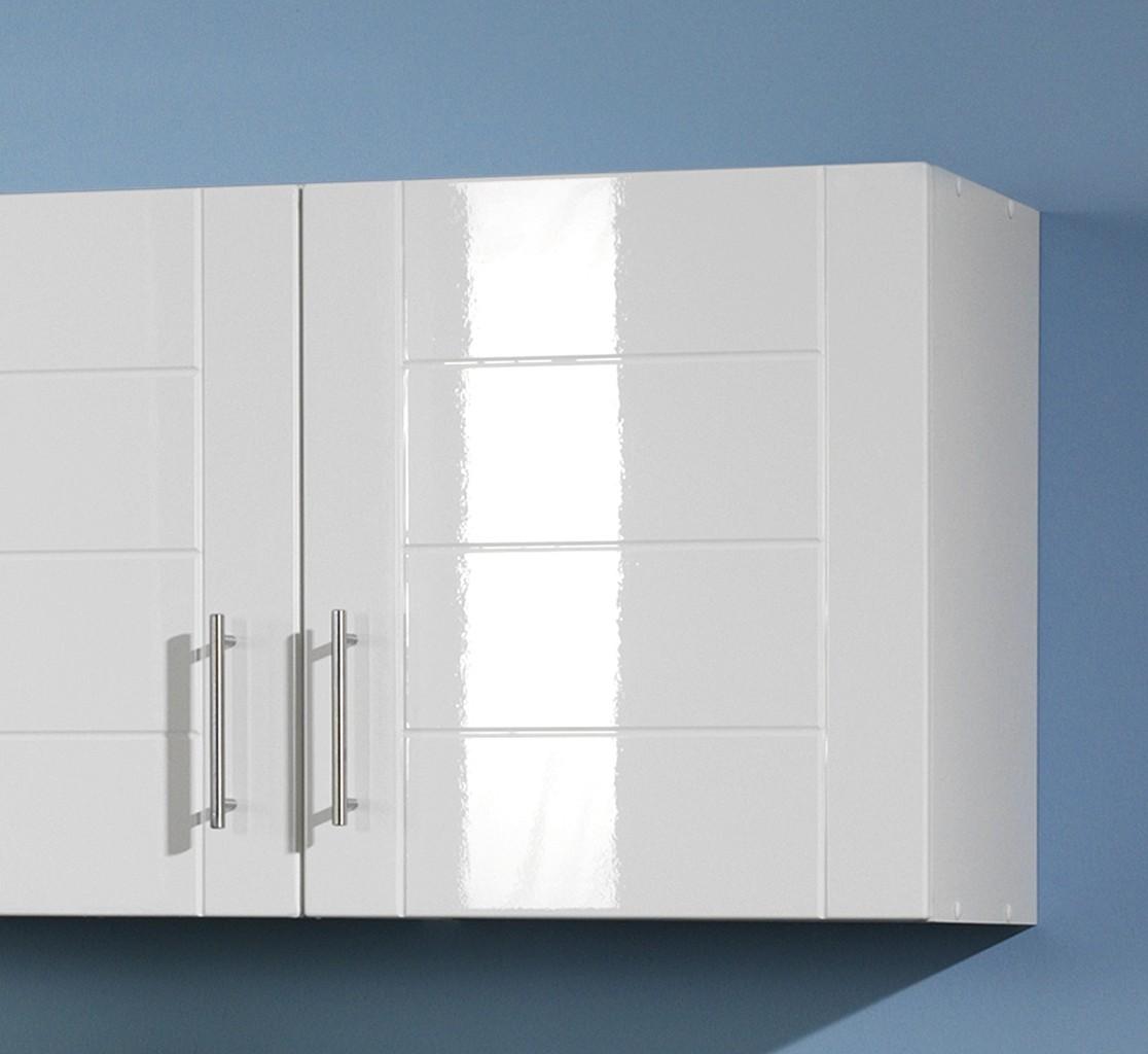 Küche weiß hochglanz günstig  Küchenzeile NEVADA - Küche mit E-Geräten - Breite 220 cm ...