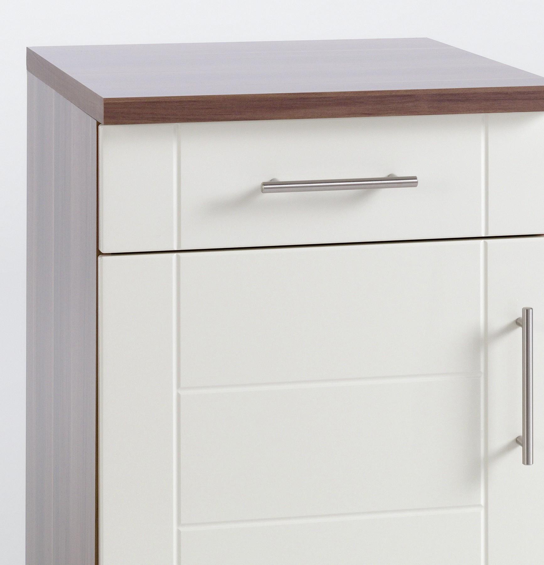 neu k chenzeile nevada k chenblock mit e ger ten 210 cm creme ebay. Black Bedroom Furniture Sets. Home Design Ideas