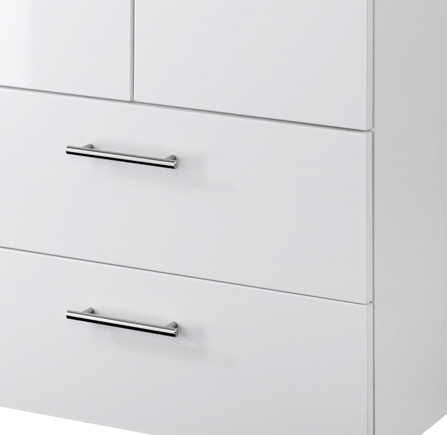 neu badezimmer midischrank blanco midi highboard badezimmerschrank 70 cm weiss ebay. Black Bedroom Furniture Sets. Home Design Ideas
