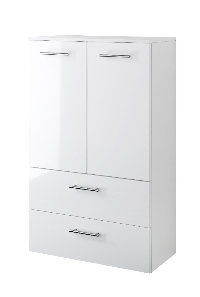 bad midischrank blanco 2 t rig 2 schubladen 70 cm. Black Bedroom Furniture Sets. Home Design Ideas
