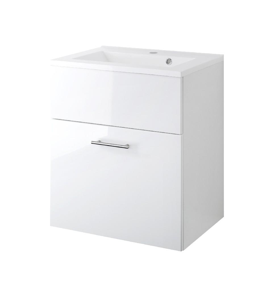 bad waschtisch blanco 1 auszug 60 cm breit hochglanz wei bad blanco. Black Bedroom Furniture Sets. Home Design Ideas