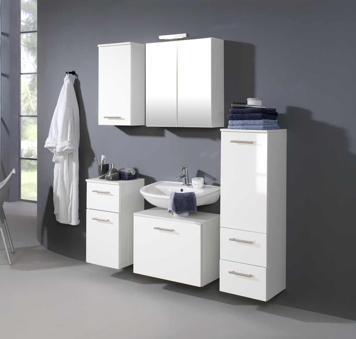 neu badezimmer unterschrank blanco badschrank badezimmerschrank weiss ebay. Black Bedroom Furniture Sets. Home Design Ideas