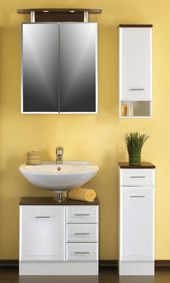 h ngeschrank neapel badezimmerschrank 25 cm weiss wenge ebay. Black Bedroom Furniture Sets. Home Design Ideas