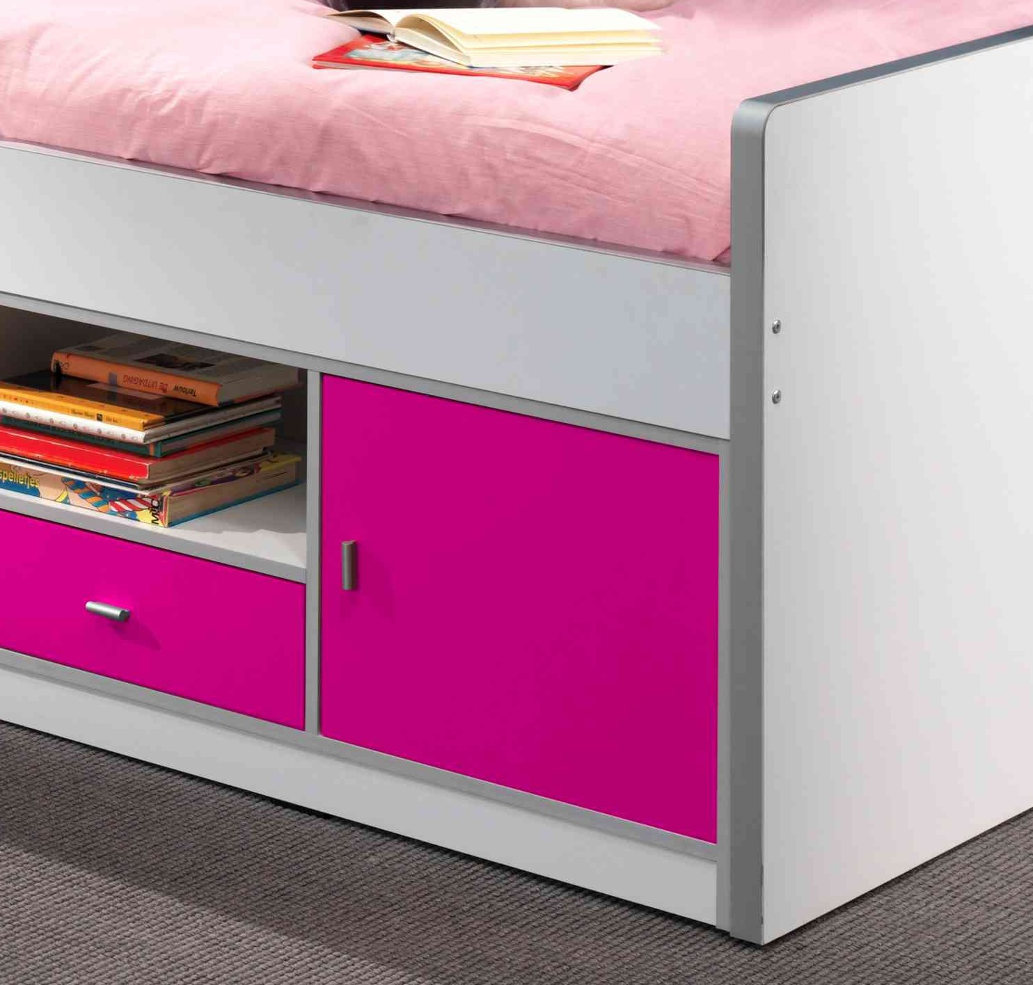 kojenbett bonny liegefl che 90 x 200 cm wei fuchsia. Black Bedroom Furniture Sets. Home Design Ideas