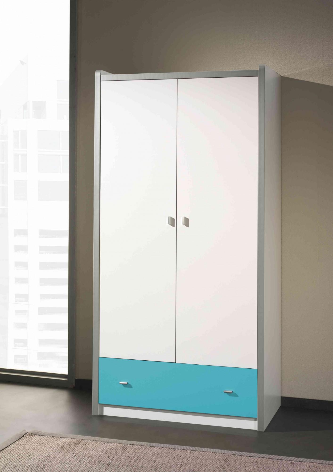 kleiderschrank bonny 2 t rig wei t rkis kinder jugendzimmer. Black Bedroom Furniture Sets. Home Design Ideas