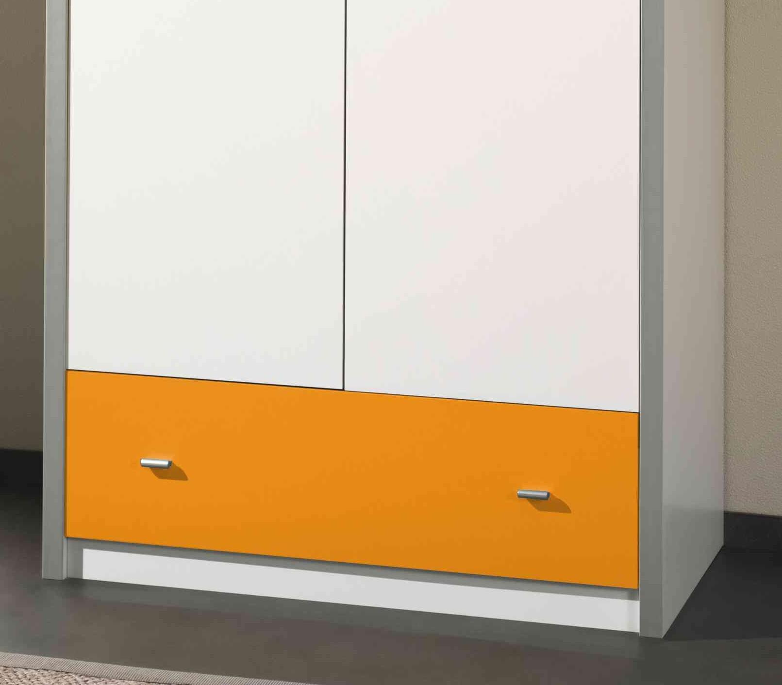 kleiderschrank bonny 2 t rig wei orange kinder jugendzimmer bonny. Black Bedroom Furniture Sets. Home Design Ideas